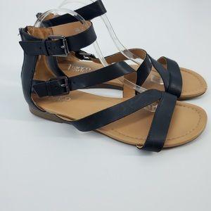 Franco Sarto Leather Upper Strappy Sandals Sz 10